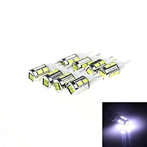 DK T10 5W 240lm 10 x SMD 5630 LED White Light Car Turn Signal Corner Lamp w/ Lens - (DC 12V /8PCS)£¨Delivery color£©(Pool)