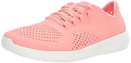 Outpost Hybrid - Crocs Women's LiteRide Pacer Sneaker, Melon/White, 7 M US