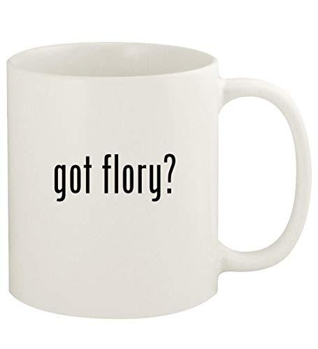 got flory? - 11oz Ceramic White Coffee Mug Cup, White (Flory Models)