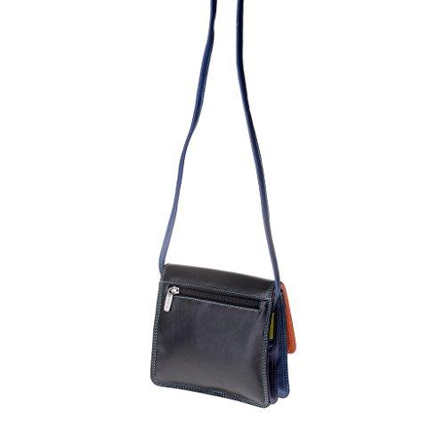 Dudu - Sac porté épaule en cuir - Colorful Collection - Flores - Noir
