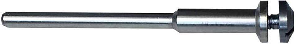 Dedeco Sunburst - 1/8 Inch x 1/8 Inch Shank Wheel Mandrel - Stainless Steel Rotary Sanding and Polishing Tool Accessory, (1 Pack)