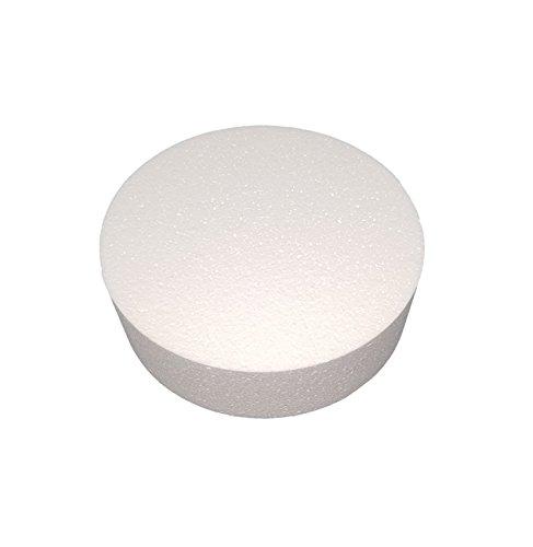 MT Products 3 inch High Round Craft Foam Cake Dummy (2 Pieces) (10