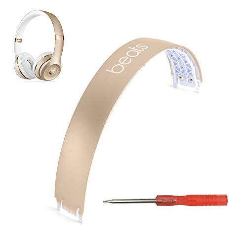 Solo 3 Headband Replacement Head Band Repair Kit Cover for Solo3 Solo 3 Solo 2 Solo2 Wireless On-Ear Headphones (Gold)