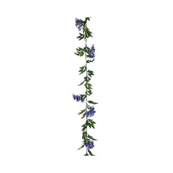 6′ Wisteria Garland Blue (pack of 6) Silk Flower