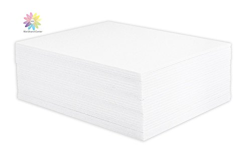 Mat Board Center, Pack of 25 Foam Core Backing Boards 1/8'' (20x24, White) by Mat Board Center