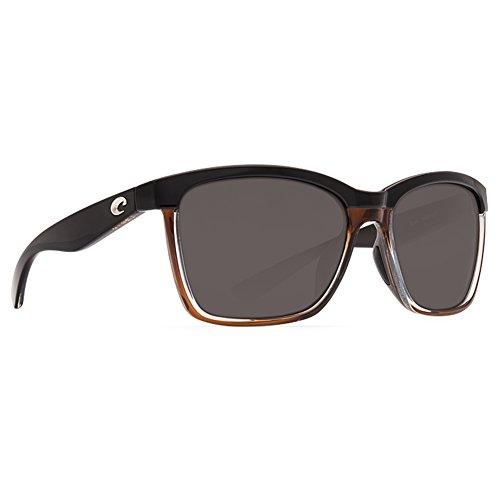 Costa Del Mar Anaa Sunglasses, Black On Brown, Gray 580P - Sunglasses Anna Costa
