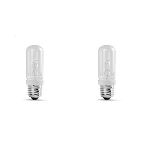 2 Pack Dimmable JDD Tubular Glass 150W Screw Light Bulb Photography Studio Modeling Strobe Lamp Compact Flash Lighting T10 Medium Base Replacement Q50FR Clear Lense 150 Watt E26 Monolight Head ...