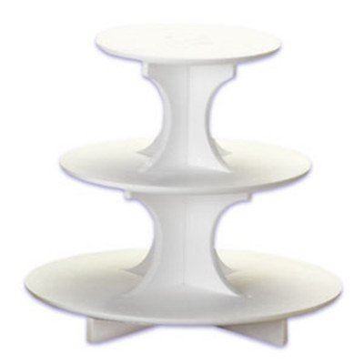 Three Tier Cupcake Treat Display Stand - Styrofoam