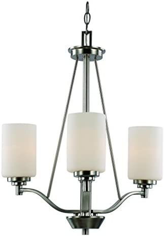 Trans Globe Lighting Trans Globe Imports 70525-3 BN Transitional Three Light Chandelier from Mod Pod Collection in Pwt, Nckl, B S, Slvr. Finish, 20.50 inches, Brushed Nickel