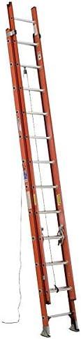 Werner Extension Ladder, Fiberglass, 20 ft, Type IA