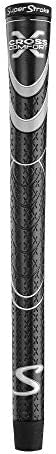 SuperStroke Cross Comfort Golf Club Grip, Black/Gray (Oversized)   Soft & Tacky Polyurethane That Boosts T