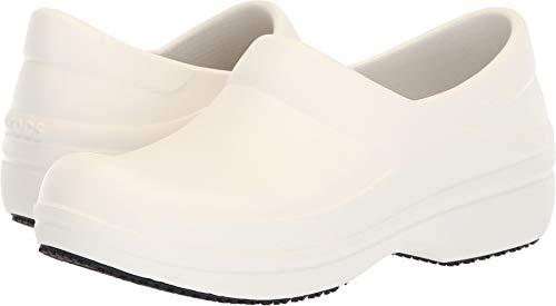 Crocs Women's Neria Pro II Clog W, White, W7 M US -  205384-100-100-W7 M US