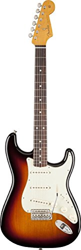 Fender Classic 60's Stratocaster Electric Guitar, Rosewood Fingerboard, 3-Tone Sunburst (Lacquer)