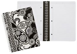 Vera Bradley Mini Notebook with Pocket in Midnight Paisley