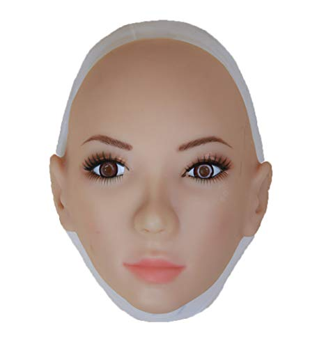BTTBS-MJ Realistic Lady Head Mask Soft Silicone Handmade