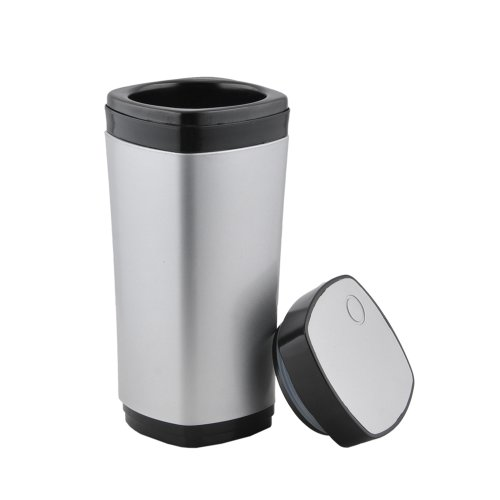 Paylow - Silver USB Rechargeable Heated Hot Mug 130ml Coffee Cup Mug with Automatic Stirring