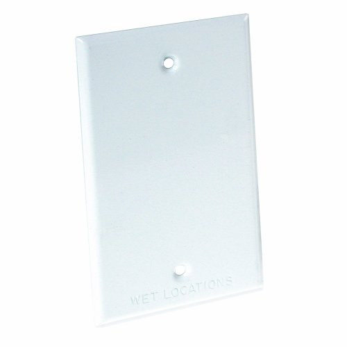 Hubbell-Bell 5173-1 Blank Weatherproof Single Gang Device Mount Cover, White