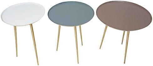 Voor Goedkoop Riess Ambiente 3-delige set salontafel bijzettafel Three Ways Gold pastelkleuren woonkamertafel salontafels GfGvJc3