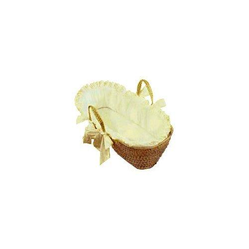 Baby Doll Bedding Carnation Eyelet Moses Basket, Ecru