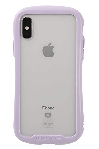 iFace Reflection Pastel iPhone XS/X ケース クリア 強化ガラス [パープル]