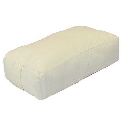 Twill Bolster - YogaDirect Supportive Rectangular Cotton Yoga Bolster, White