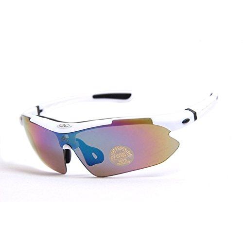 Deportivas Sol Gafas Luz Bicicleta Equitación De polarizado Polarizada Gafas Gafas Polarizado Gafas Rojo Blanco Parabrisas Inovey BAxnWq