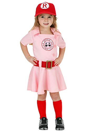 A League of Their Own Toddler Dottie Baseball Costume 2T Light Pink