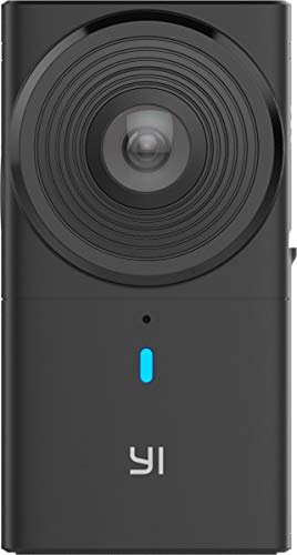 YI 360 VR Camera Dual-Lens 5.7K HI Resolution Panoramic Camera with Electronic Image Stabilization, 4K in-Camera Stitching (Best 3d Vr Camera)