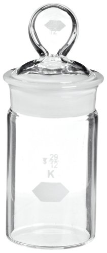 Kimax, Cylindrical Weighing Bottle, High-Form 30 x 60mm, 30mL (Case of 18)