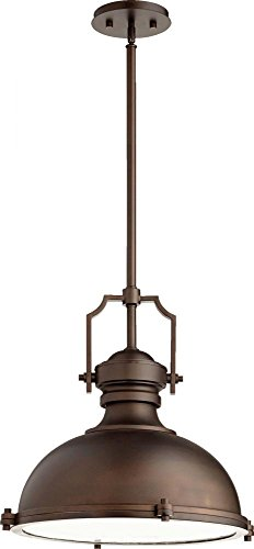 (Quorum Lighting 814-20-86, Pendant Bowl Pendant, 3 Light, 195 Total Watts, Oiled Bronze )