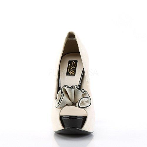 Higher Pumps Velourleder 10 Couture Beige PinUp PleaserUSA Heels Lolita rznwqXBr4