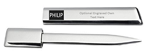 Engraved Letter Opener Optional Text Printed Name - Philip