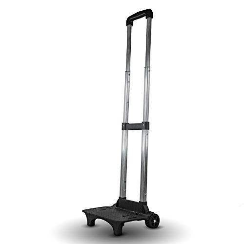 SSE Folding Compact Lightweight Premium Durable Luggage Cart - Travel Trolley with Bungee Cord
