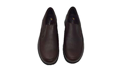 Hombre Zapato Suela Marron Piel Elástico Eva Cierre Himalaya F77xqd