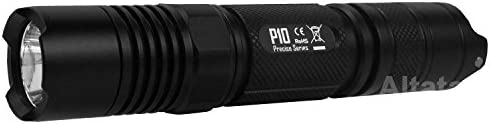 NiteCore P10GT Tactical Strobe Ready 900 Lumens LED Flashlight, Black