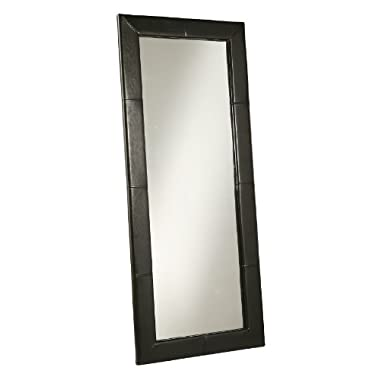 Abbyson Living Allure Black Leather Floor Mirror