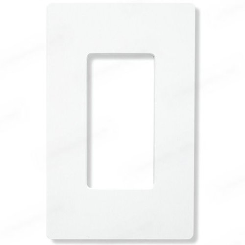 Leviton 80401-NW 1-Gang Decora/GFCI Device Wallplate, Standard Size, Thermoplastic Nylon, Device Mount, White
