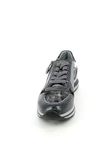 Con sneaker Pelle Nero Strass Grigia In Giardini qHUf5xwfX
