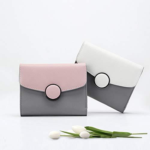 In Portafoglio Minimalista Pink Yy4 Color Pastello Pelle Kervinfendriyun Uomo Da Tasca color White ARFwqHg