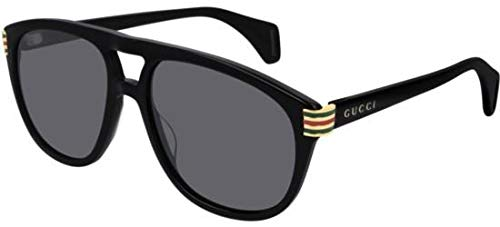 Gafas de Sol Gucci GG0525S BLACK/GREY hombre: Amazon.es ...