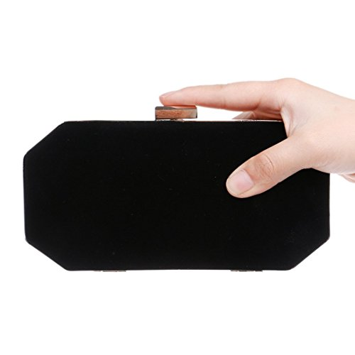 Evening evening Black Clutch Lingjiao Women's bag Banquet Color Suede Fly Evening Bag Blue q1OOaXw