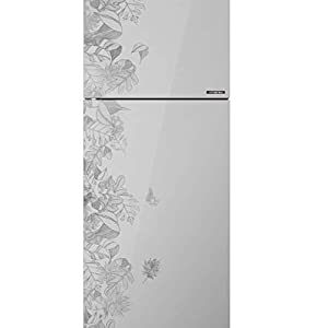 Haier 258 L 3 Star Inverter Frost-Free Double Door Refrigerator (HRF-2784PFG-E, Silver, Floral Glass)