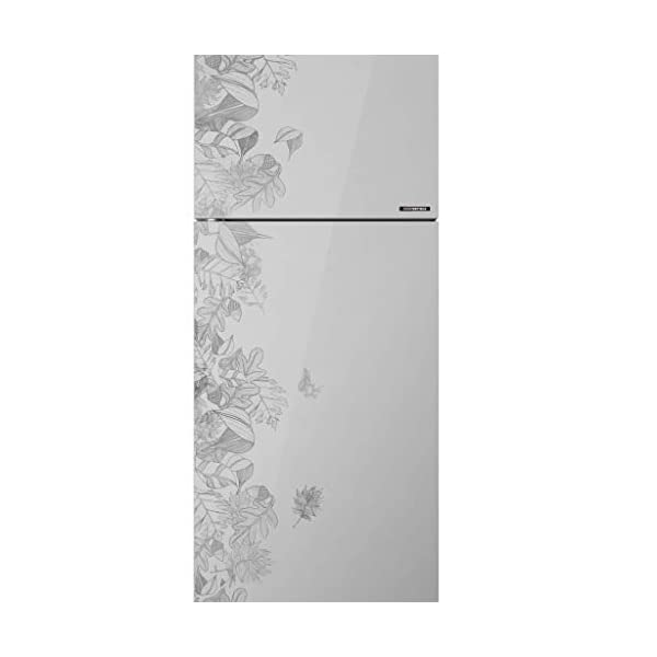Haier 258 L 3 Star Inverter Frost-Free Double Door Refrigerator (HRF-2784PFG-E, Silver, Floral Glass) 2021 July Frost-free Side by Side refrigerator with Twin Inverter Technology-ensures that the compressor & fan can run at different speeds Capacity: 258 litres suitable for medium a sized family. Energy rating: 3 star rating , Annual energy consumption: 182 per year