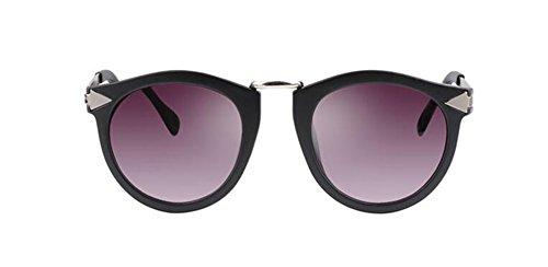 vintage Sable inspirées retro cercle en soleil métallique Noir de du lunettes rond style polarisées Lennon Oq0xwB