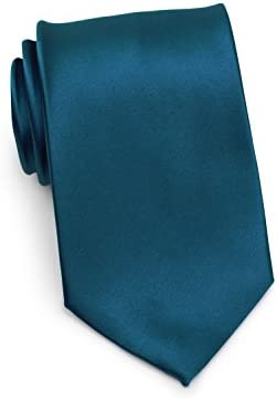 Bows-N-Ties Boys Necktie Solid Color Microfiber Satin Tie Kids Ages 5-10