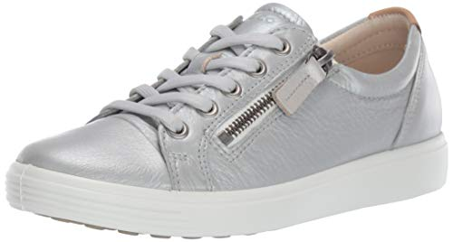 ECCO Women's Soft 7 Ladies Low-Top Sneakers, (Concrete Metallic 51382), 5 UK (Ecco Boots Kids)