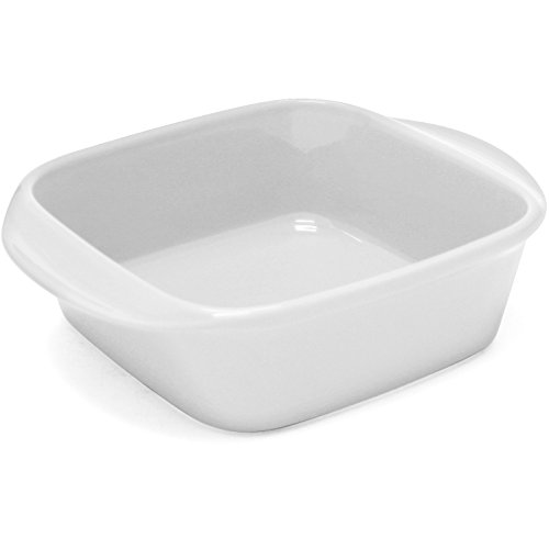 Chantal 93A-SQ20T WT Classic Square Baking Dish, 8 by 8 by 2.75-Inch, Glossy (Baking Dish Glossy)