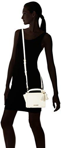 Love Moschino Borsa Calf Pu Avorio - Borse Baguette Donna, Beige (Ivory), 14x23x9 cm (B x H T)