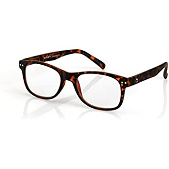 fae8a9f0e685 Blueberry - Computer Reading Glasses - Size L - Chestnut - Unisex - Blue  Light Blocking Eyeglasses - Digital Screen Glasses - (Chestnut