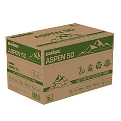 BOISE Aspen 50% Multi-Use Recycled Copy Paper, 8.5 x 11, 92 Bright White, 20 lb, 10 ream carton (5,000 Sheets)
